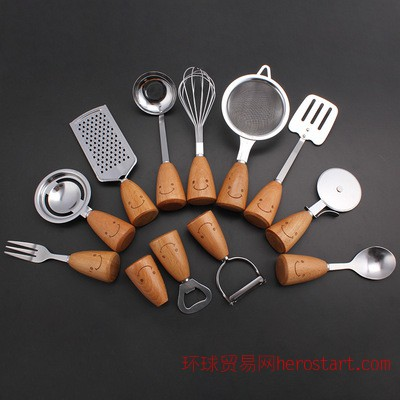 不锈钢多用厨房工具十二件套 厂家直销 打蛋器