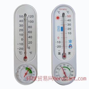温度计 玻璃式温湿度计 室内外大棚指针式温湿度计