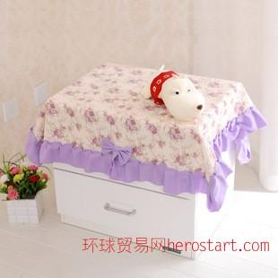 佳尔美棉布加厚布艺 床头柜罩 苏菲公主 万能盖巾