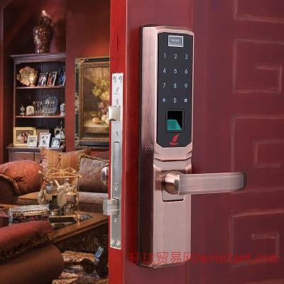 指纹锁密码锁电子门锁家用防盗门锁智能门锁包邮