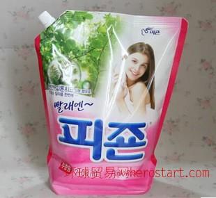 天然柔顺剂舒适自然韩国原装进口碧珍柔顺剂粉色(玫瑰香)2100ml