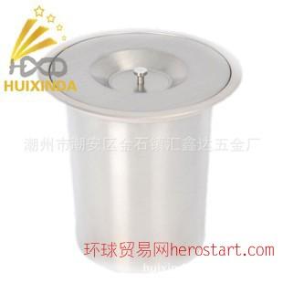不锈钢厨房台面桶 嵌入式垃圾桶 垃圾桶加盖子 无磁
