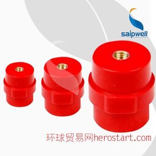 赛普供应SM铜芯红色复合绝缘子 各种大小规格齐全 耐高温绝缘子