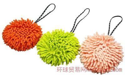 日本山崎康多多SUSU超细纤维擦手球 雪尼尔擦手巾 超吸水毛巾