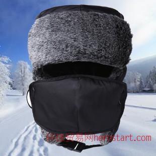 帽子 男士雷锋帽韩版棉帽女护耳冬季加厚保暖帽户外防寒东北帽