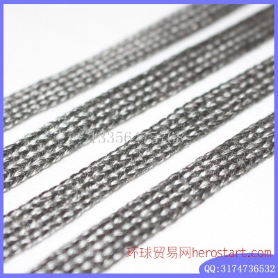 50mm阻燃不锈钢纤维机织带 耐磨 耐腐蚀 防切割高温金属带