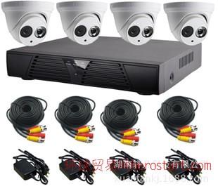 4路智能网络集成系统 高清监控摄像机 安防监控设备