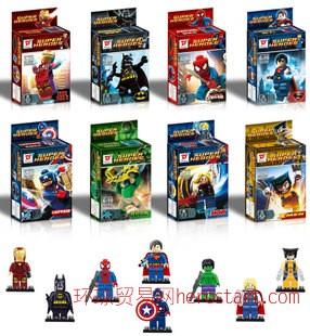 D牌复仇者联盟积木小人 超级英雄人仔全套 拼装积木 益智玩具