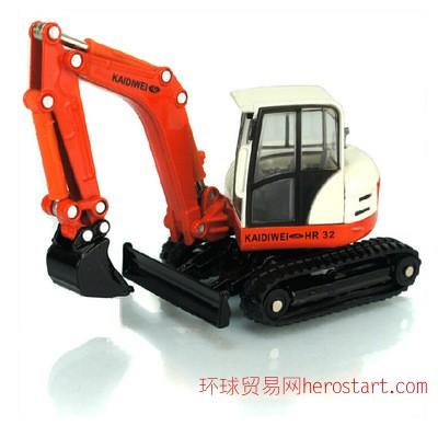 合金工程车/凯迪威620001静态模型玩具/1:50履带挖掘机