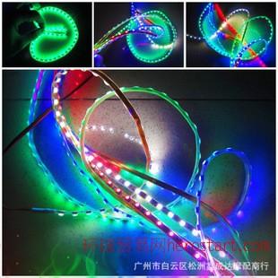 汽车摩托车改装配件灯条LED彩灯鬼火12V装饰爆闪灯条超亮七彩灯带