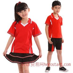 中小学生校服定做/幼儿园园服/2015夏季新款全棉短袖