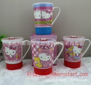 名展陶瓷 新款KT猫保温杯 创意卡通水杯 日用百货马克杯