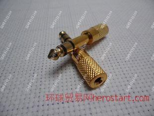 麦克风6.5转3.5转换头 6.5mm公转3.5mm孔 话筒音频转接头
