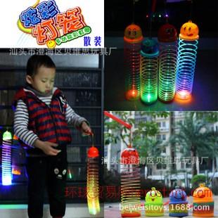 儿童礼品彩虹路圈炫彩灯光闪光节日儿童灯笼 彩虹圈灯笼散装