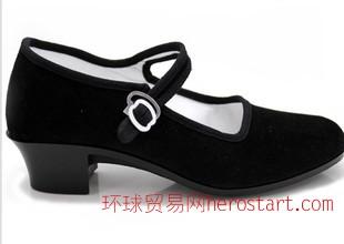老北京布鞋  工作鞋舞蹈女单鞋 厂家直销 小高跟鞋1180-BBIA