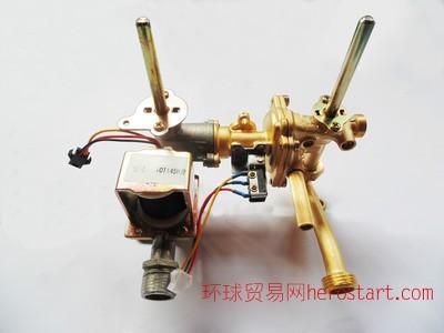 欧派电器家用烟道强排式燃气热水器水气联动阀体带显示低水压启动