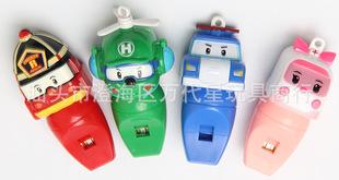 哨子玩具珀利警车  POLI变形车口哨玩具送彩色挂绳礼品玩具