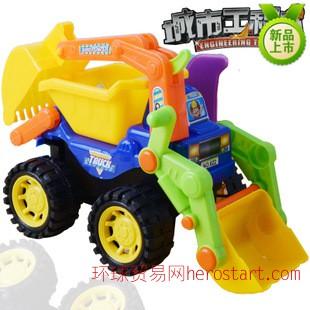 新品儿童仿真惯性工程车挖土机 挖掘机玩具车 地摊