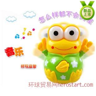 32190青蛙音乐不倒翁 灯光不倒翁玩具 儿童益智玩具 婴幼儿教具