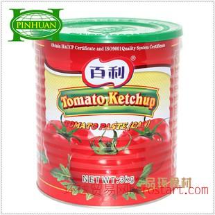 品环百利牌番茄沙司3kg 百利番茄 中西餐料批发 番茄酱