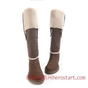 2014冬季新款靴子 女 優雅時尚高筒靴 簡約保暖冬季女靴