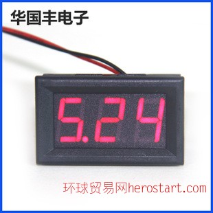数显式电压表 DC 2.5-30V电压表 数字式直流电压表