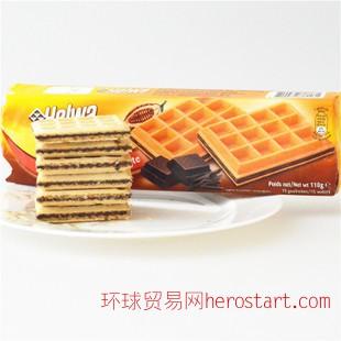 混批荷兰原装进口食品荷维helwa法式华夫饼干多口味批发110G