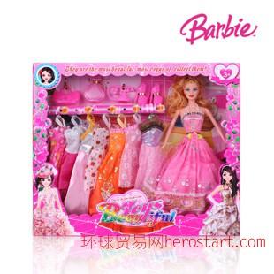 启诺时尚公主经典版新款11.5寸芭比娃娃热销芭比 女孩玩具