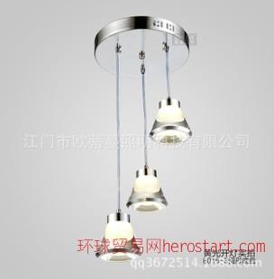 餐厅灯吊灯三头创意亚克力餐吊灯现代简约餐厅吊灯吧台led饭厅灯