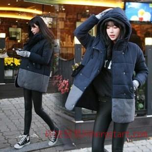 韩国代购2014冬季新款棉衣外套加厚棉服女装大衣大码宽松棉女潮爆