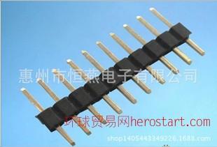 单排针1.0 1.27 1*40单排针 方针2.54单排插座 0.8U镀金