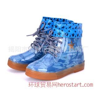 外贸童鞋儿童雨鞋防滑水鞋2014新款加棉雨鞋男童短筒雨靴包邮
