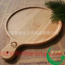 定做披萨盘  披萨板 有橡胶木 碳化竹 榉木 相思木材质
