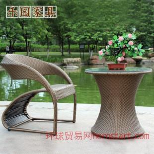 户外休闲藤椅子茶几 阳台咖啡厅 酒吧编藤桌椅家具厂