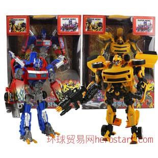 大黄蜂变形金刚玩具 批发机器人擎天柱 变形金刚4大黄蜂5533-60