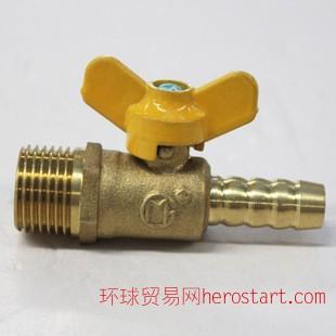 黄铜外螺纹接管燃气球阀 煤气球阀表尾阀 赣玛