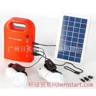 家用照明太阳能小系统 铝合金边框3W组件 6V4.5Ah电池