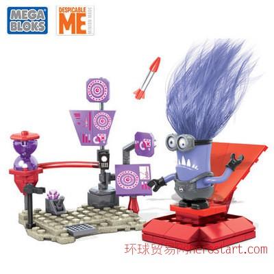 美高小黄人积木 艾尔猛齐欧实验室5/6岁小颗粒玩具智力组装CNC77