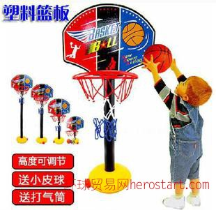 儿童可升降篮球架 配篮球打气筒  运动休闲玩具 热销儿童玩具