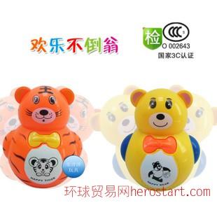 音乐不倒翁 儿童不倒翁玩具 小熊老虎不倒翁 灯光音乐玩具TQ8002