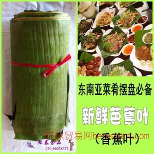 东南亚餐料批发泰国进口新鲜蕉叶500g/8元芭蕉叶泰国菜肴摆盘专用