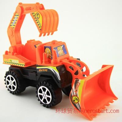 中号推土机挖掘机惯性工程车模型玩具 摆地摊批发厂家直销惯性车