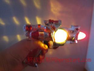 八音枪带音乐灯光 透明七彩玩具 地摊货批发必备 爆款