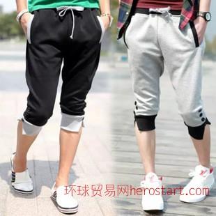 一件代发 男士7分裤 韩版男短裤 男式夏季运动裤 地摊短裤