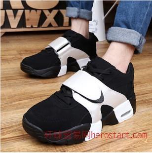 新款air黑白情侣权志龙同款气垫学生篮球鞋韩版潮 减震增高运动鞋