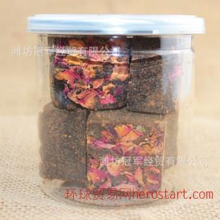 黑糖玫瑰四物 6块装 250g 易拉罐装 茶砖汤 补血养颜 理气调经