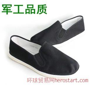 布鞋千层底男布鞋松紧口鞋工作鞋3520劳保鞋黑色布鞋