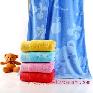 竹纤维提花大浴巾厂家直销批发成人婴儿70*140大浴巾