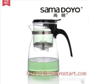 尚明A14 玻璃飘逸杯套装 进口原料900ml大容量玻璃茶壶