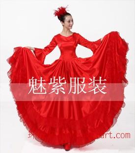 西班牙舞蹈裙 開場舞大擺裙 演出服合唱長裙教會服裝民族服裝舞服